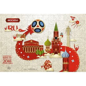 """Origami (03808) - """"Moscow, Host city, FIFA World Cup 2018"""" - 360 pieces puzzle"""