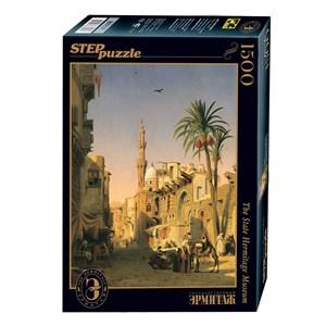 """Step Puzzle (83207) - Prosper Marilhat: """"Place de l'Esbekieh au Caire"""" - 1500 pieces puzzle"""