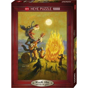 "Heye (29620) - Rudi Hurzlmeier: ""Singing Coyote"" - 1000 pieces puzzle"