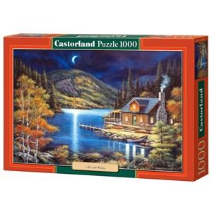 "Castorland (C-102990) - John Zaccheo: ""Moonlit Cabin"" - 1000 pieces puzzle"
