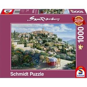 """Schmidt Spiele (59483) - Sam Park: """"St. Paul De Vence"""" - 1000 pieces puzzle"""