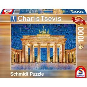 """Schmidt Spiele (59578) - Charis Tsevis: """"Berlin"""" - 1000 pieces puzzle"""
