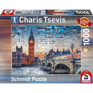 """Schmidt Spiele (59579) - Charis Tsevis: """"London"""" - 1000 pieces puzzle"""