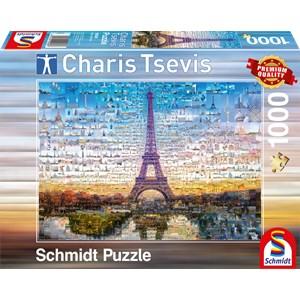 """Schmidt Spiele (59580) - Charis Tsevis: """"Paris"""" - 1000 pieces puzzle"""