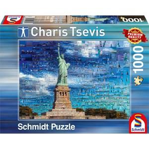 """Schmidt Spiele (59581) - Charis Tsevis: """"New York"""" - 1000 pieces puzzle"""