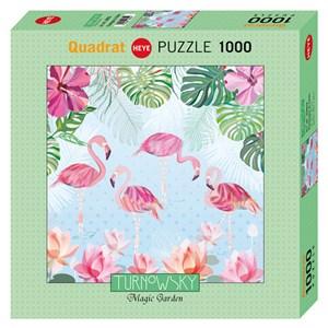 "Heye (29852) - Turnowsky: ""Flamingos & Lilies"" - 1000 pieces puzzle"