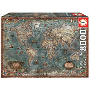 """Educa (18017) - """"Historical World Map"""" - 8000 pieces puzzle"""