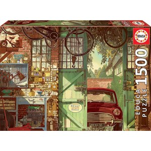 "Educa (18005) - Arly Jones: ""Old Garage"" - 1500 pieces puzzle"