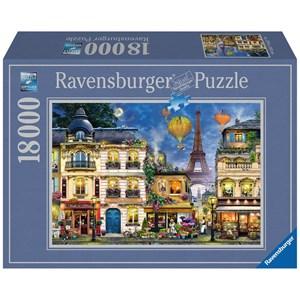 """Ravensburger (17829) - """"Evening Walk in Paris"""" - 18000 pieces puzzle"""