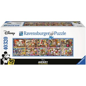 """Ravensburger (17828) - """"Mickey Mouse through the Years"""" - 40000 pieces puzzle"""