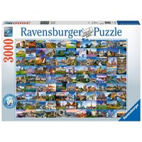 "Ravensburger (17080) - ""99 Beautiful Places in Europe"" - 3000 pieces puzzle"