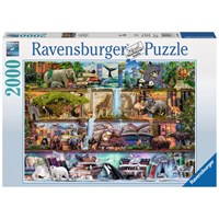 "Ravensburger (16652) - Aimee Stewart: ""Amazing Animal Kingdom"" - 2000 pieces puzzle"