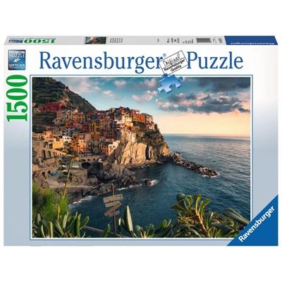 "Ravensburger (16227) - ""View of Cinque Terre, Italy"" - 1500 pieces puzzle"