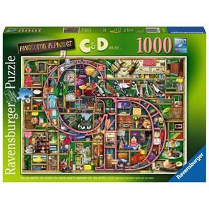 """Ravensburger (15183) - Colin Thompson: """"Awesome Alphabet 'C&D'"""" - 1000 pieces puzzle"""
