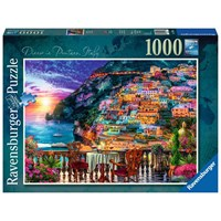 """Ravensburger (15263) - Lars Stewart: """"Dinner in Positano, Italy"""" - 1000 pieces puzzle"""