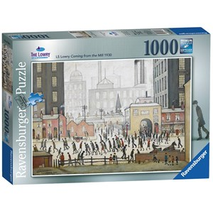 "Ravensburger (19748) - L. S. Lowry: ""Lowry Coming From the Mill"" - 1000 pieces puzzle"