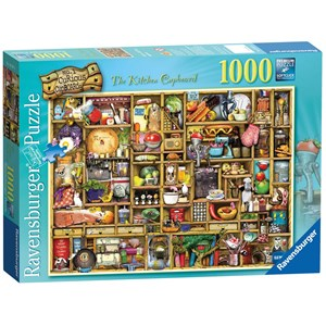 """Ravensburger (19107) - Colin Thompson: """"The Curious Cupboard, The Kitchen Cupboard"""" - 1000 pieces puzzle"""