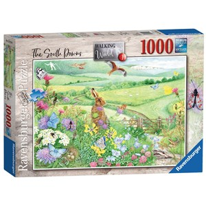 """Ravensburger (15176) - Anne Searle: """"Walking World, South Downs"""" - 1000 pieces puzzle"""