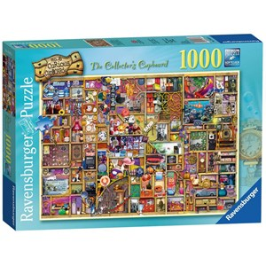 """Ravensburger (19827) - Colin Thompson: """"The Curious Cupboard No.6, The Collector's Cupboard"""" - 1000 pieces puzzle"""