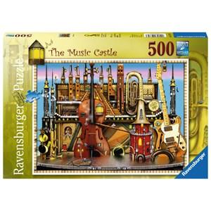 """Ravensburger (14779) - Colin Thompson: """"The Music Castle"""" - 500 pieces puzzle"""