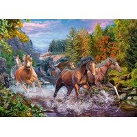 "Ravensburger (10403) - ""Rushing River Horses"" - 100 pieces puzzle"