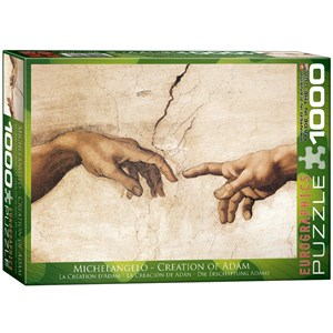 "Eurographics (6000-2016) - Michelangelo: ""The Creation of Adam"" - 1000 pieces puzzle"