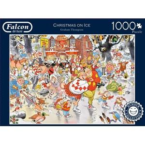 "Falcon (11223) - Graham Thompson: ""Christmas on Ice"" - 1000 pieces puzzle"