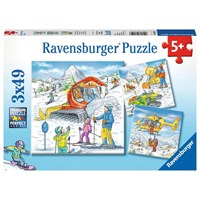 """Ravensburger (08052) - """"On the Ski Slope"""" - 49 pieces puzzle"""