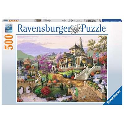 """Ravensburger (14806) - """"Hillside Retreat"""" - 500 pieces puzzle"""