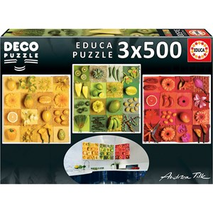 """Educa (18454) - Andrea Tilk: """"Fruits and Flowers"""" - 500 pieces puzzle"""