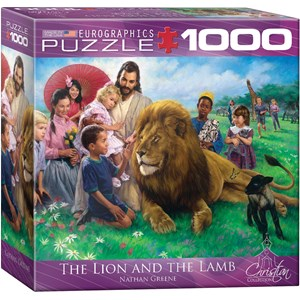 """Eurographics (8000-0345) - Nathan Greene: """"The Lion and the Lamb"""" - 1000 pieces puzzle"""
