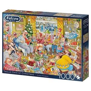 "Falcon (11279) - Graham Thompson: ""Twelve Days of Christmas"" - 1000 pieces puzzle"