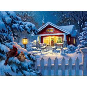 """SunsOut (55989) - Corbert Gauthier: """"Christmas Bungalow"""" - 1000 pieces puzzle"""