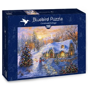 """Bluebird Puzzle (70065) - Nicky Boehme: """"Christmas Cottage"""" - 2000 pieces puzzle"""