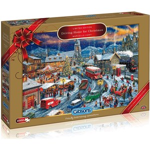 """Gibsons (G2018) - Marcello Corti: """"Driving Home For Christmas"""" - 1000 pieces puzzle"""
