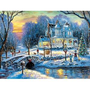 """SunsOut (60760) - Robert Finale: """"A White Christmas"""" - 1000 pieces puzzle"""