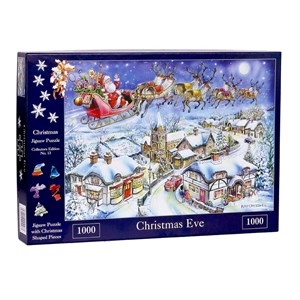 """The House of Puzzles (4487) - Ray Cresswell: """"No.13, Christmas Eve"""" - 1000 pieces puzzle"""