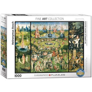 """Eurographics (6000-0830) - Hieronymus Bosch: """"The Garden of Earthly Delights, Triptych"""" - 1000 pieces puzzle"""