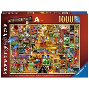 """Ravensburger (19771) - Colin Thompson: """"Awesome Alphabet """"A"""""""" - 1000 pieces puzzle"""