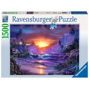 "Ravensburger (16359) - Christian Riese Lassen: ""Sunrise in Paradise"" - 1500 pieces puzzle"