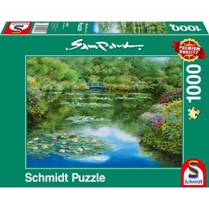"""Schmidt Spiele (59657) - Sam Park: """"Water Lily Pond"""" - 1000 pieces puzzle"""