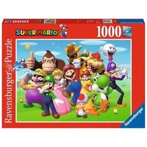 """Ravensburger (14970) - """"Super Mario"""" - 1000 pieces puzzle"""