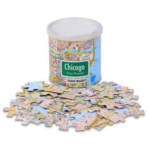 "Geo Toys (GEO 238) - ""City Magnetic Puzzle Chicago"" - 100 pieces puzzle"