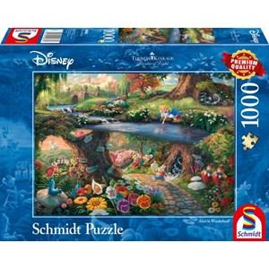 "Schmidt Spiele (59636) - Thomas Kinkade: ""Alice im Wunderlan"" - 1000 pieces puzzle"