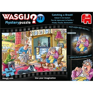 """Jumbo (19175) - """"Wasqij Mystery 17, Catching A Break"""" - 1000 pieces puzzle"""