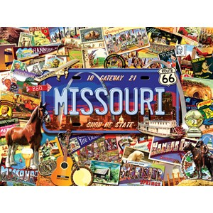"""SunsOut (70038) - Kate Ward Thacker: """"Missouri, The """"Show Me"""" State"""" - 1000 pieces puzzle"""