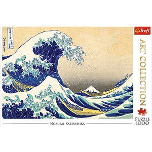 "Trefl (10521) - Hokusai: ""The Great Wave"" - 1000 pieces puzzle"