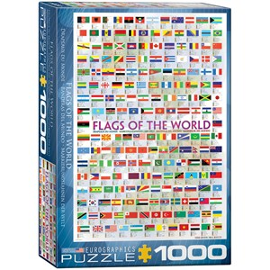 """Eurographics (6000-0128) - """"Flags of the World"""" - 1000 pieces puzzle"""