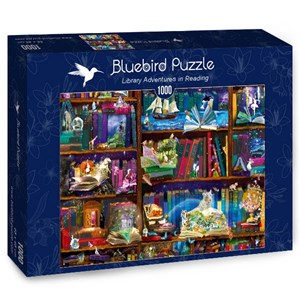 "Bluebird Puzzle (70313) - Alixandra Mullins: ""Library Adventures in Reading"" - 1000 pieces puzzle"