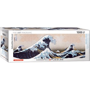"Eurographics (6010-5487) - Hokusai: ""Great Wave of Kanagawa"" - 1000 pieces puzzle"